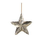 Gold Hanging Solid Star