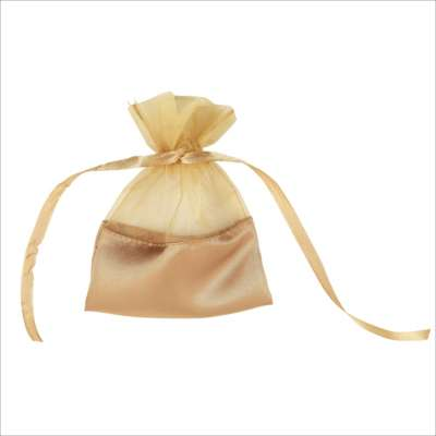Gold Organza Bags with Satin Base