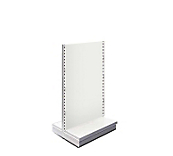 White Metal Shelving Gondolas - Height - 160cm