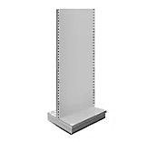 Silver Metal Shelving Gondolas - Height - 220cm