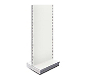White Metal Shelving Gondolas - Height 220cm