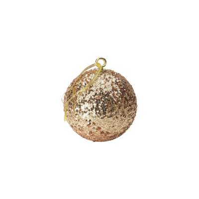 Gold Sequin Baubles
