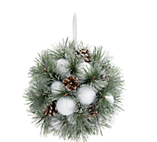 Hanging Pine & Snow Ball Baubles