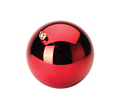 Hanging Plain Baubles - Red