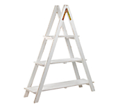 Heritage White 3 Tier Ladder Display