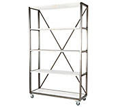 White Heritage Framed Shelving Units