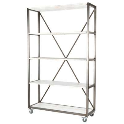 Heritage White Framed Shelving Units