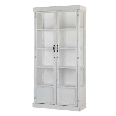 Heritage White Glass Display Cabinet