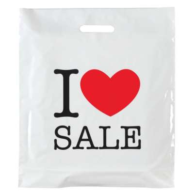 I Love Sale Plastic Carrier Bags