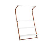 Inverso Copper Wall Bays with 3 White Shelves