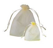 Ivory Organza Bags