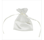 Ivory Organza Bags With Satin Base