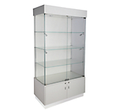 White Gloss Glass Display Cabinets