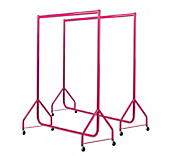 Pink Heavy Duty Clothes Rails