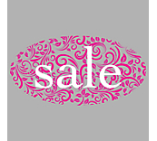 Lace Sale Window Cling