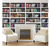 Library bookshelf wall sticker