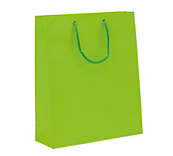 Lime Green Matt Paper Carrier Bags