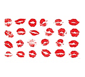 Lipstick Kisses Window Cling