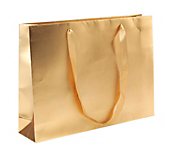 Luxury Gold Matt Carrier Bags