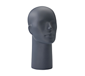 Abstract Matt Grey Mannequin Heads