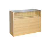 Maple Quarter Glazed Slimline Counter