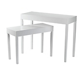 Matt White Display Tables