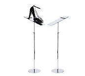 Chrome Shoe Stands