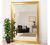 Moulded Gold Mirror