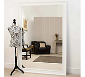 Moulded White Mirror
