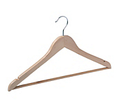 Natural Wooden Flat Coat Hangers