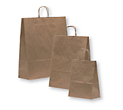 Recycled Brown Paper Carrier Bags