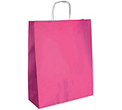 Matt Pink Paper Carrier Bags