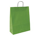 Matt Lime Green Paper Carrier Bags
