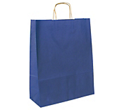 Matt Navy Blue Paper Carrier Bags