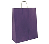 Matt Purple Paper Carrier Bags