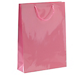 Pink Laminated Gloss Paper Bags