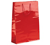 Red Laminated Gloss Paper Bags