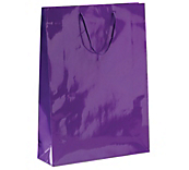 Violet Laminated Gloss Paper Bags
