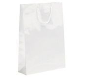 White Laminated Gloss Paper Bags