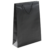 Black Laminated Matt Paper Bags