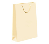 Cream Laminated Matt Paper Bags