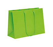 Lime Green Laminated Matt Paper Bags