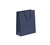 Navy Laminated Matt Paper Carrier Bags
