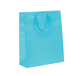 Sky Blue Laminated Matt Paper Bags