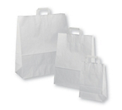 White Flat-Handled Paper Carrier Bags