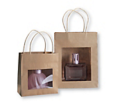 Brown Paper Carrier Bags with Windows