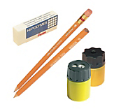 Pencils, Sharpeners & Erasers