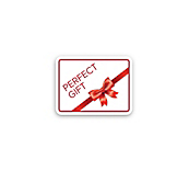 Red Perfect Gift Sticker