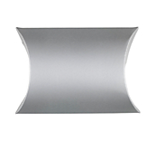Silver Cardboard Pillow Boxes