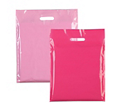Pink Plastic Carrier Bags